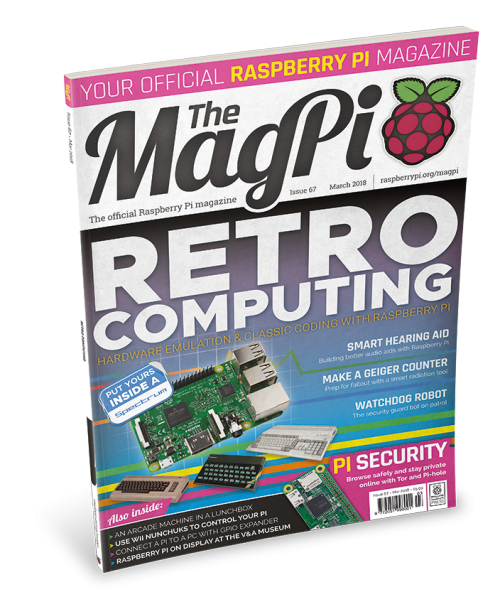 The MagPi 67 Retro Gaming Privacy Security
