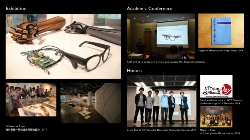 A collage images illustrating the history of developing OTON GLASS — OTON GLASS RASPBERRY PI GLASSES FOR DYSLEXIC USERS