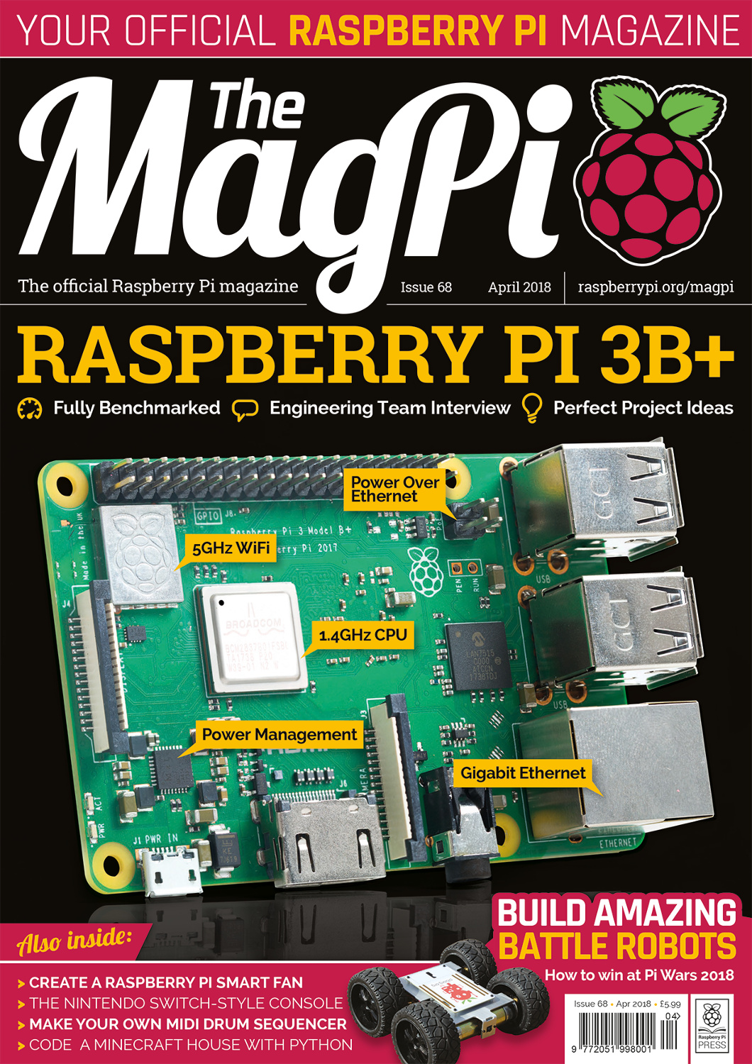 MagPi 68: an in-depth look at the new Raspberry Pi 3B+