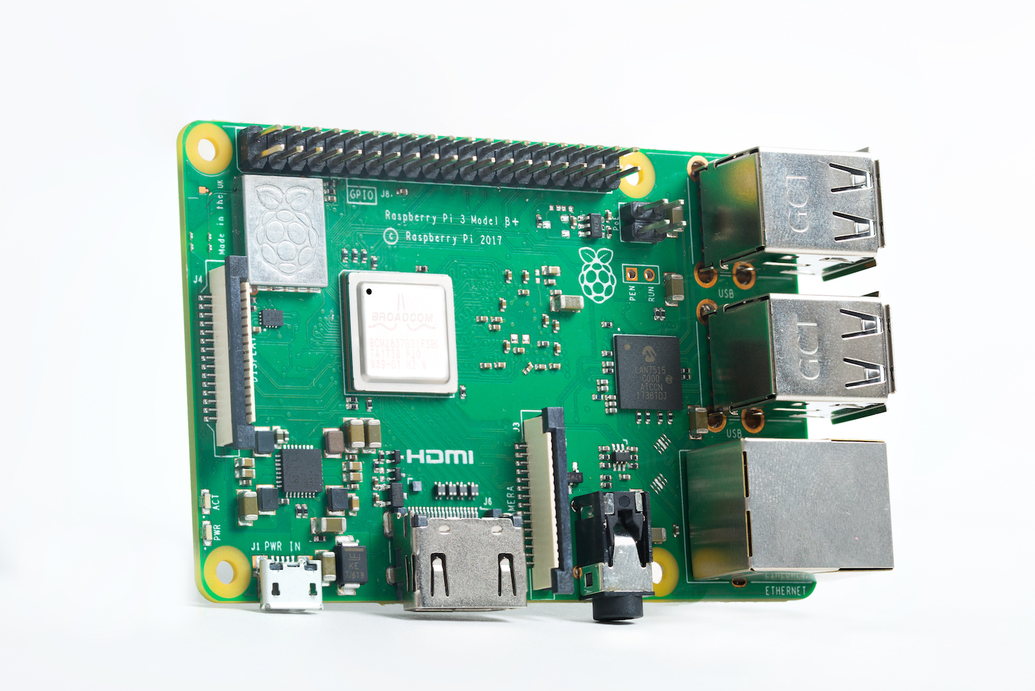 Raspberry Pi 3 Model B On Sale Now At 35 Custom Cpu Gpu Processing Unit Enhanced Circuit Board Design