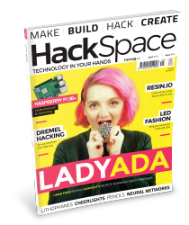 "HackSpace magazine issue 5 cover, featuring Limor ""Ladyada"" Fried"