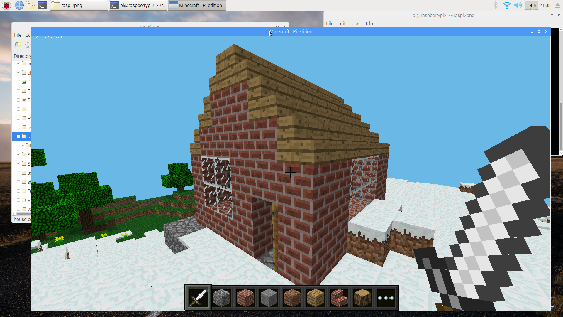 Build A House In Minecraft Using Python Raspberry Pi