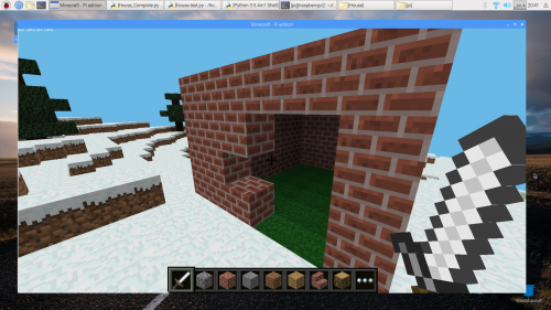Build a house in Minecraft using Python - Raspberry Pi