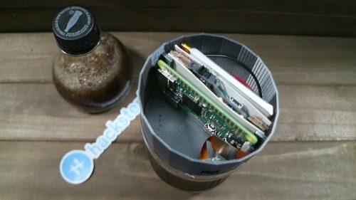 Tinkernut's hidden Coke bottle spy cam