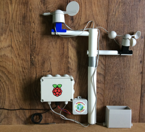 Build Your Own weather station kit assembled Raspberry Pi summer project