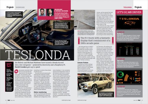 Teslonda article in The MagPi 70 — Raspberry Pi home automation and tech upcycling
