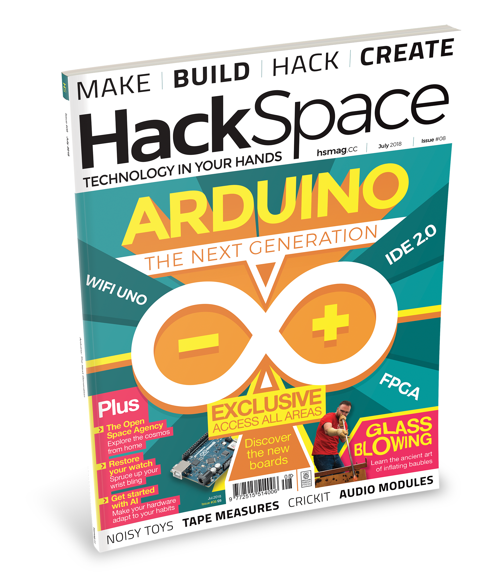 HackSpace magazine 8: Raspberry Pi <3 Arduino