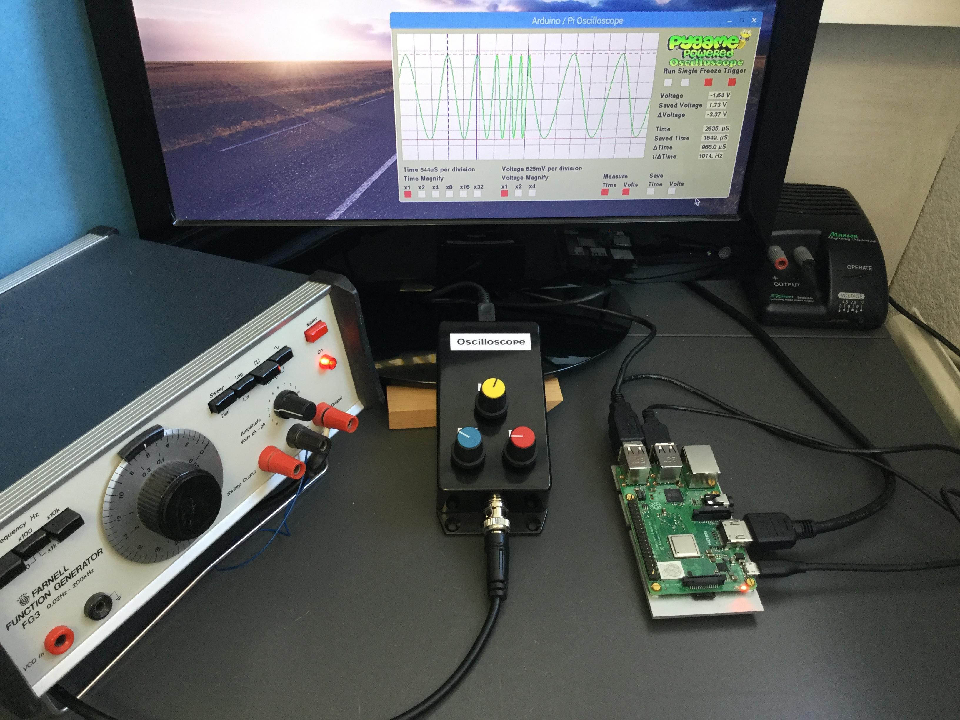 Build an oscilloscope using Raspberry Pi and Arduino