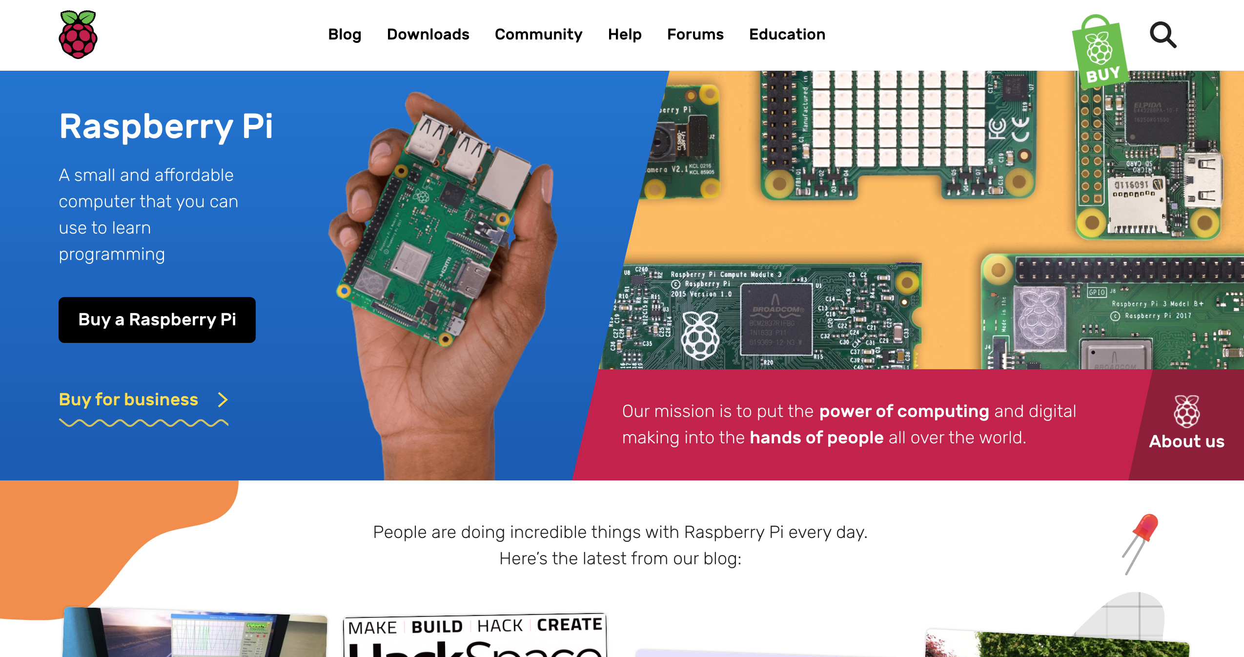 Raspberry Pi Weekly Issue #263 - Homepage
