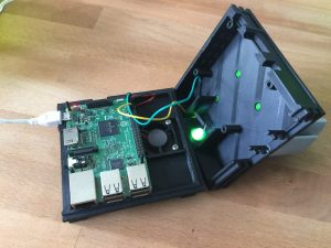 Okama Gamesphere 3d-printable Raspberry Pi case