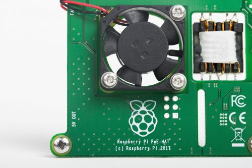 Raspberry Pi PoE HAT Power over ethernet