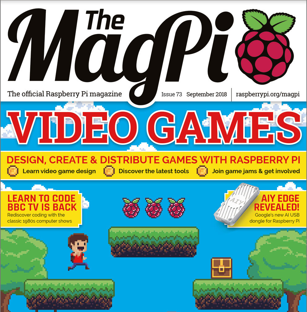 MagPi 73: make a video game!