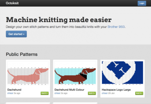 Networked knitting machine: not your average knit one, purl