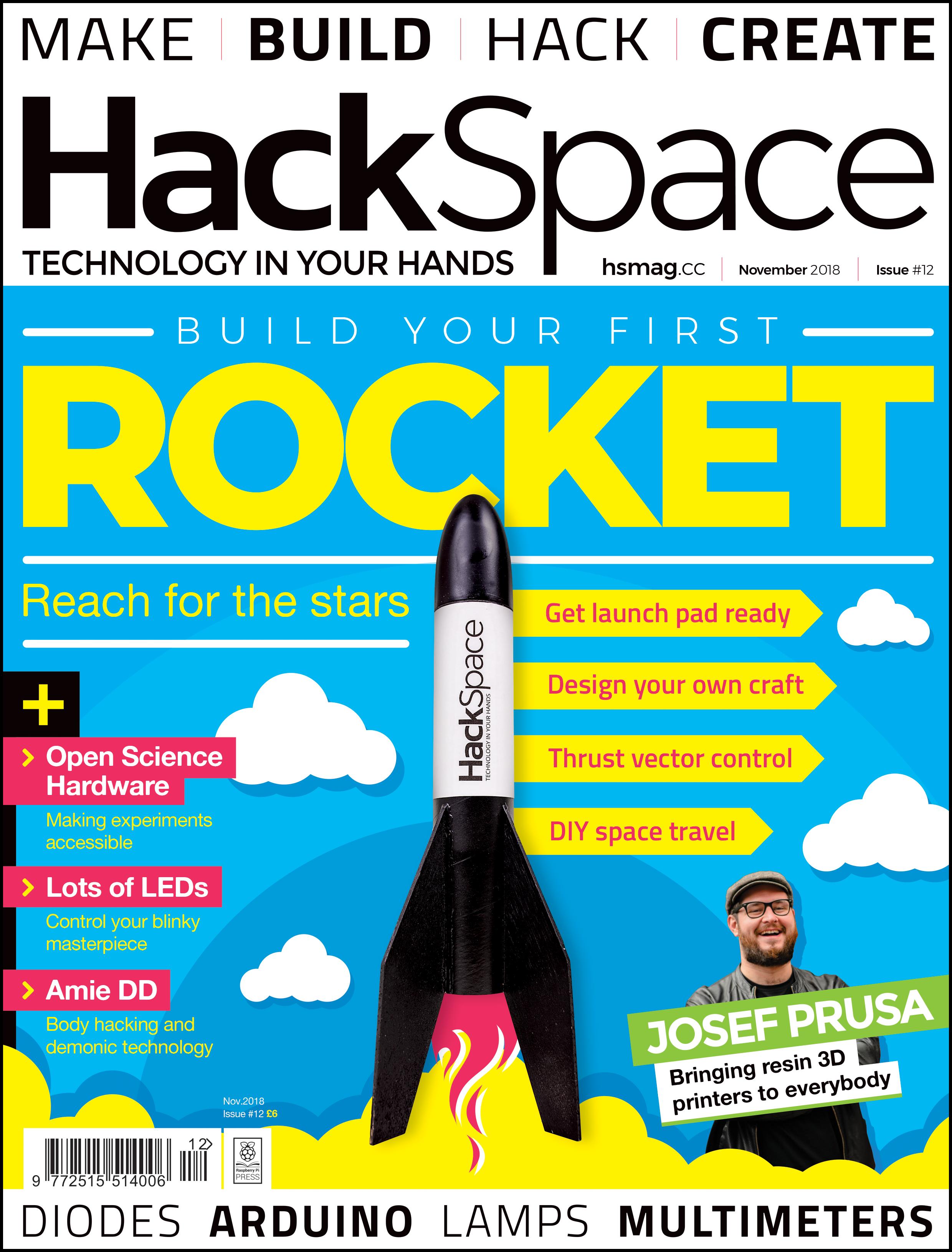 HackSpace magazine 12: build your first rocket!