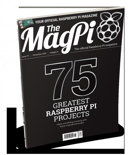 MagPi 75 Raspberry Pi magazine front cover
