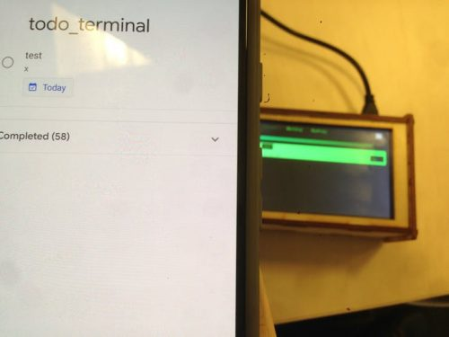 Google Tasks Raspberry Pi to-do list Michael Sporna