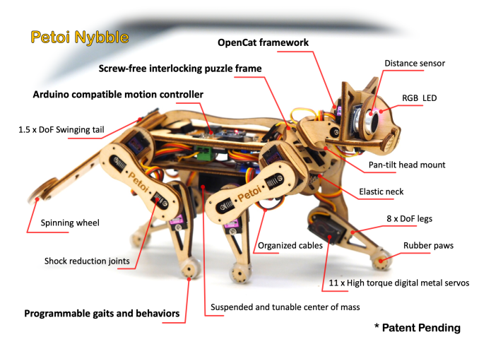 Petoi the laser-cut robotic cat