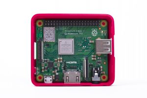 Raspberry Pi 3 Model A+ in case without lid