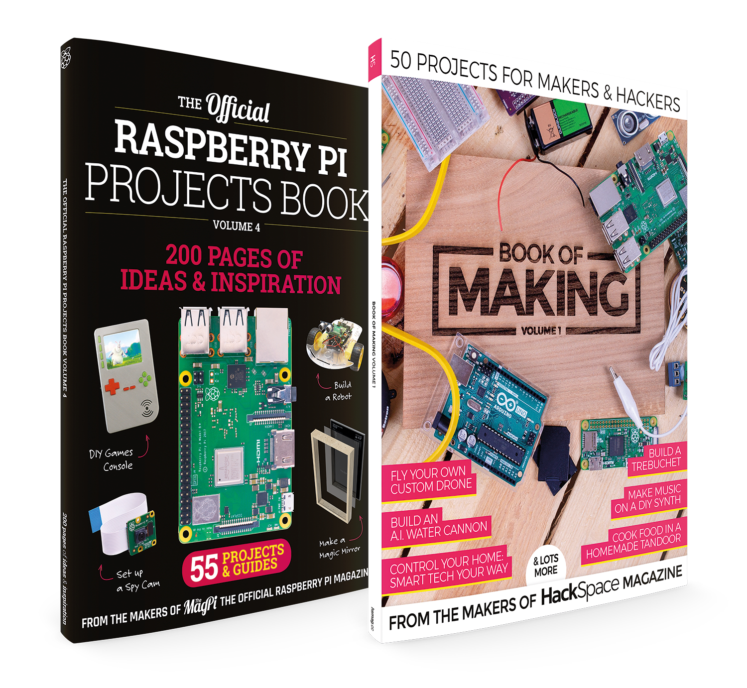 Brand-new books from The MagPi and HackSpace magazine