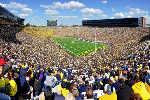 The Big House stadium in Michigan