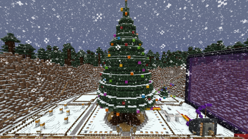 Christmas Minecraft World.Minecraft Controlled Real World Christmas Tree Raspberry Pi