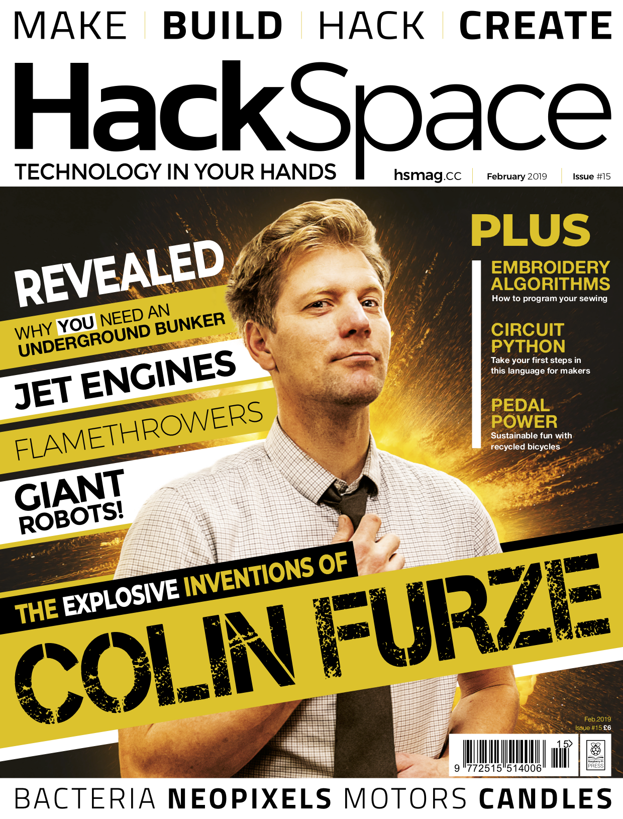 Front cover of HackSpace magazine issue 15
