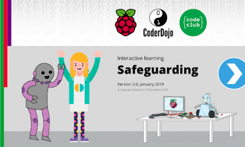 Raspberry Pi safeguarding e-learning module starter page