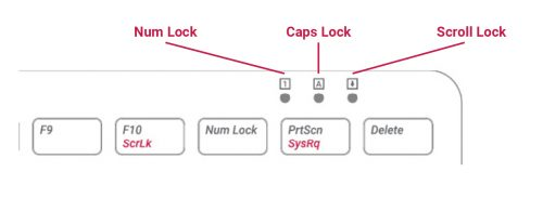 Diagram view of the lock keys on the official Raspberry Pi keyboard and hub