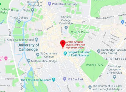 Grand Arcade Cambridge Map