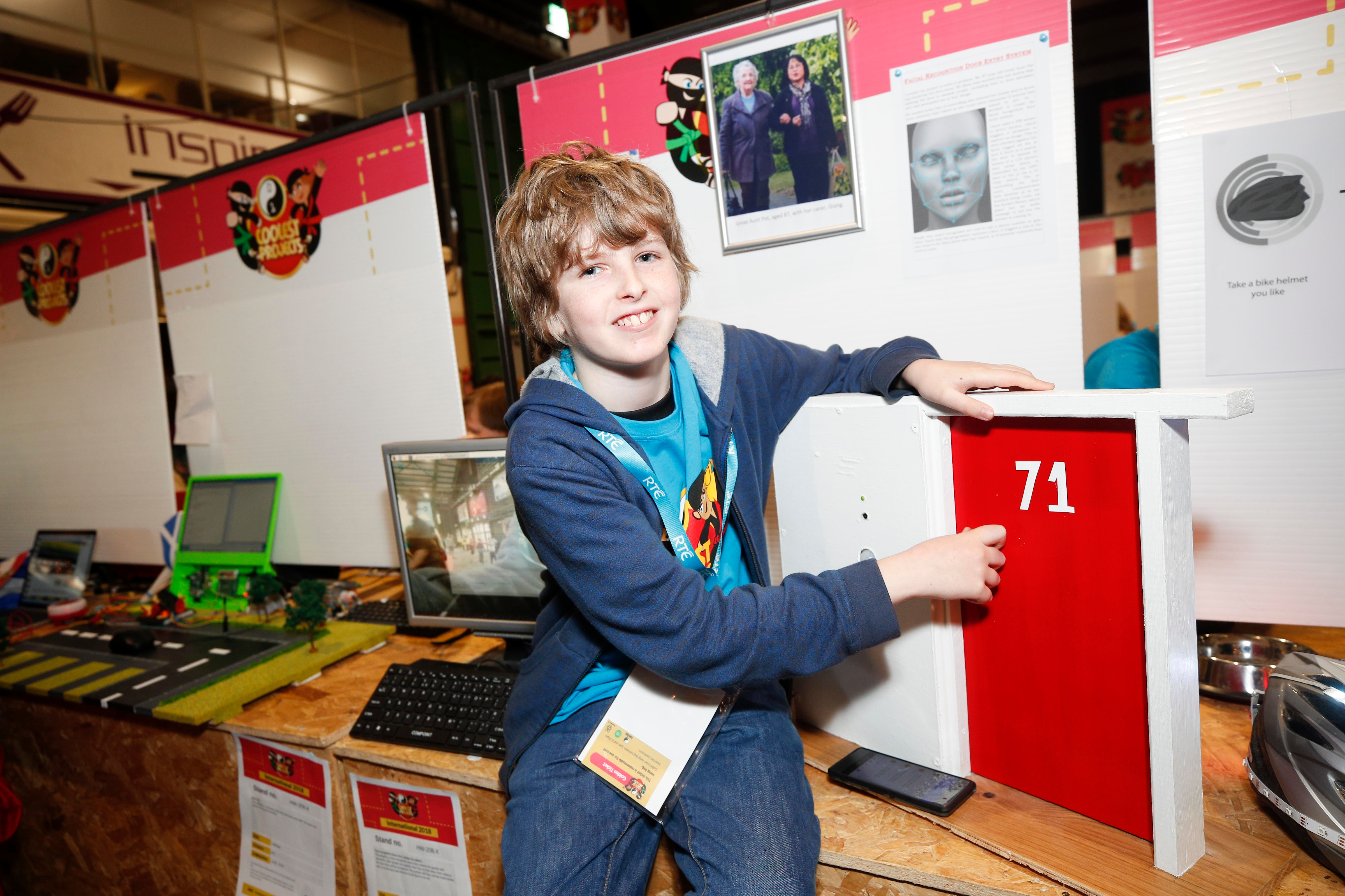 13 year old Freddie and his project Door Pi Plus