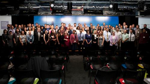 Group shot of the first NCCE GCSE accelerator graduates