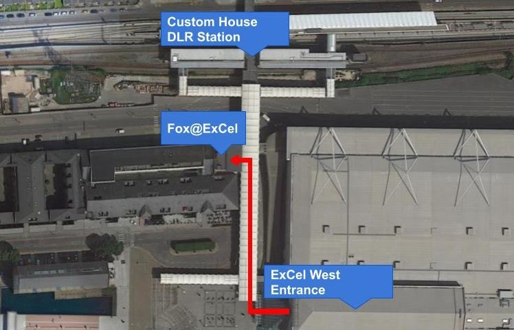 Map of where the Fox@ExCel London is