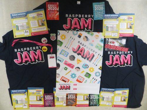 Raspberry Jam branded goodies