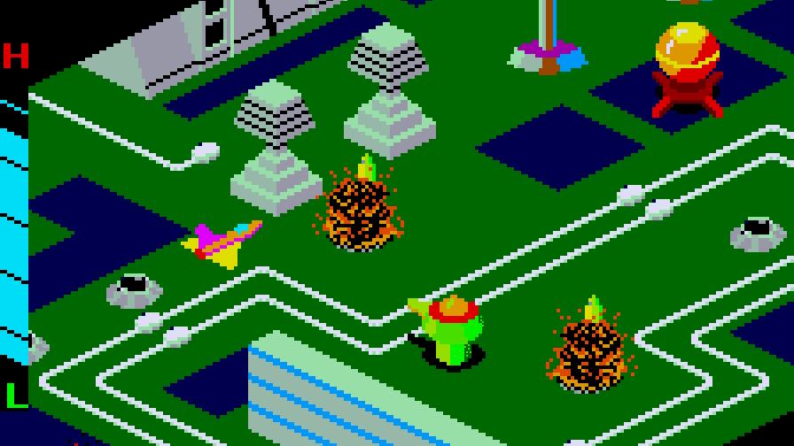 A shot from Sega's arcade hit, Zaxxon