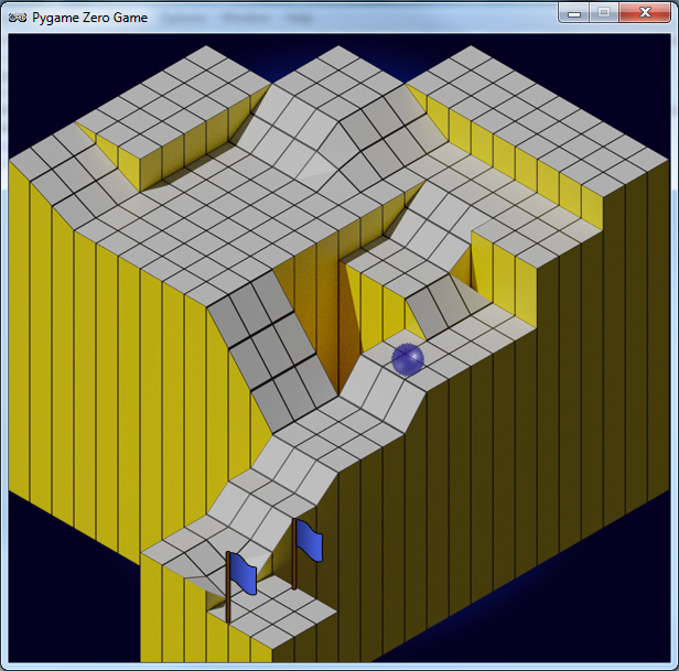 Our Python version of Marble Madness