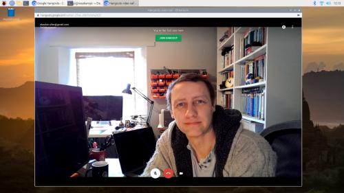 Google Hangouts on the Raspberry Pi desktop