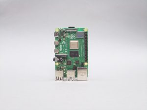 Photograph of a Raspberry Pi 4 captured by the Raspberry Pi High Quality Camera