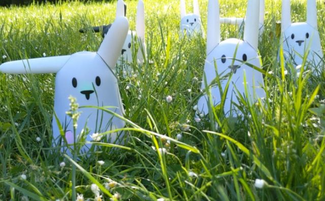 Nabaztag bunnies in long green grass