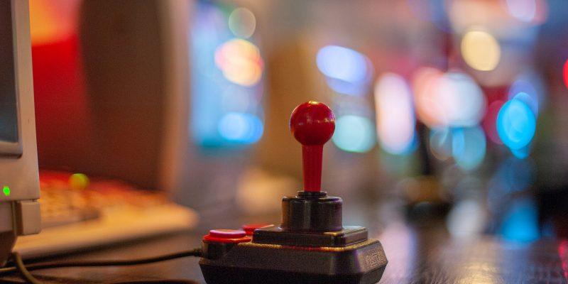 A joystick on a desktop