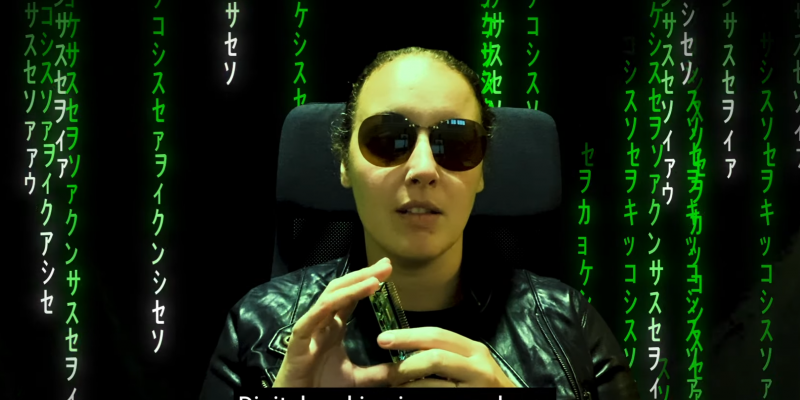 "A woman wearing sunglasses saying ""Digital making is everywhere"""