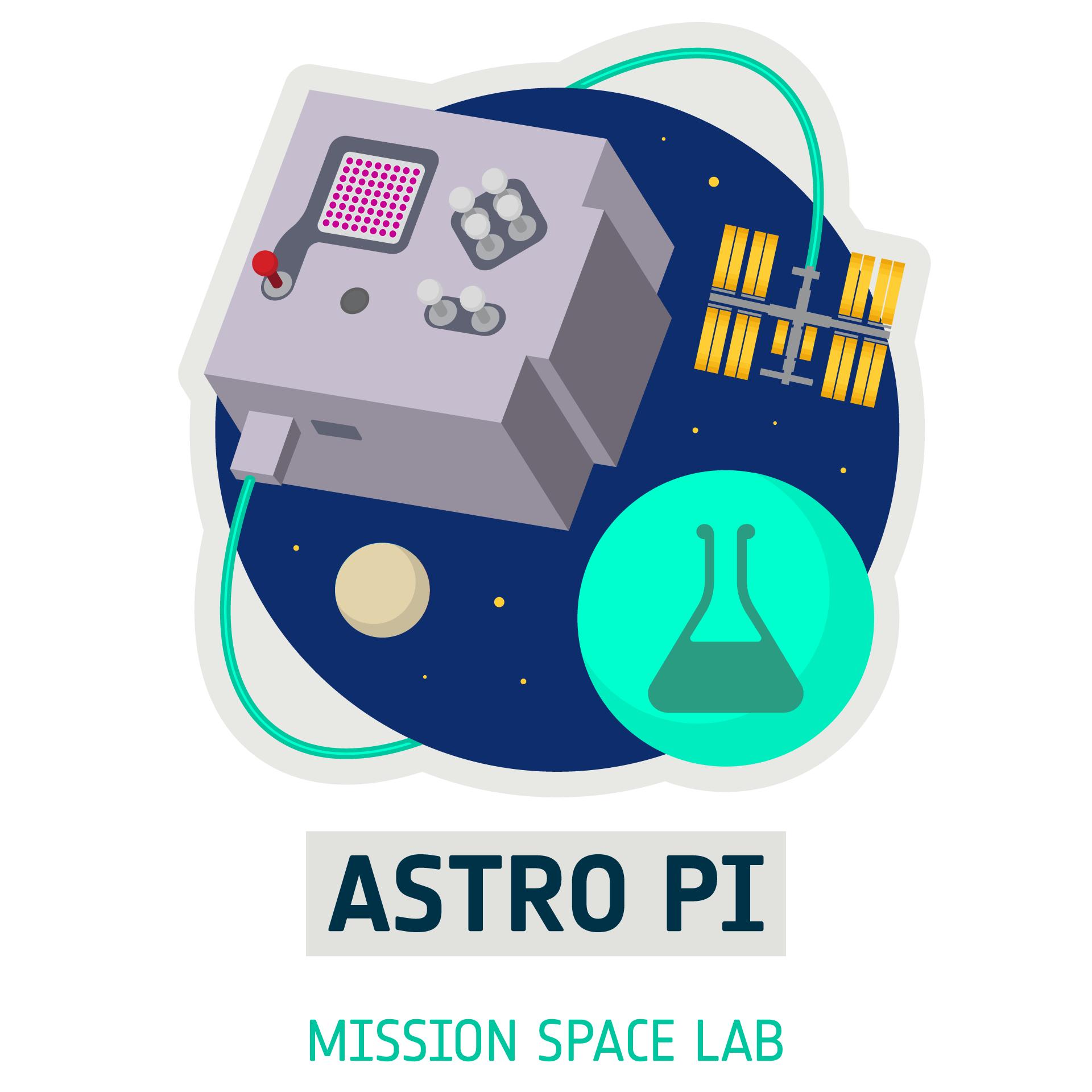 לוגו של מעבדת החלל המשימה, חלק מאתגר האסטרו פי האירופי