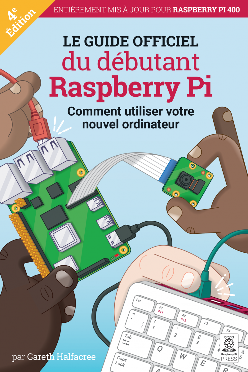 The cover of Raspberry Pi Beginner's Guide French edition