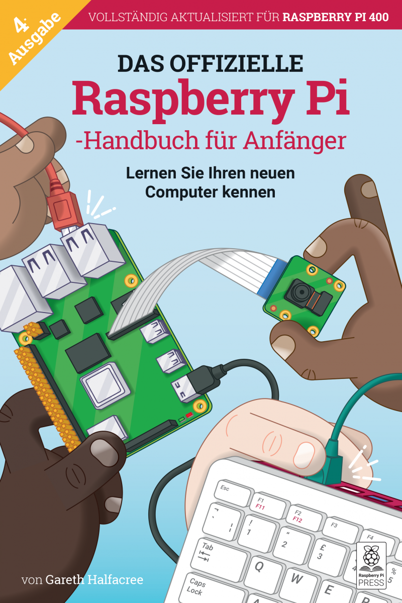 The cover of Raspberry Pi Beginner's Guide German edition