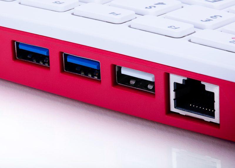 umair-akbar-Raspberry Pi 400 ports 800x572 - Raspberry Pi 4 - New Paradigm in Computing