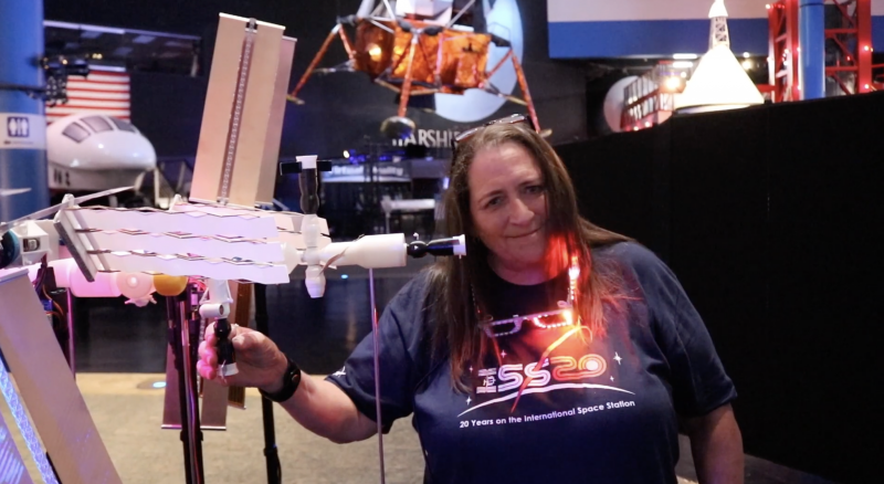 A member of team ISS Mimic