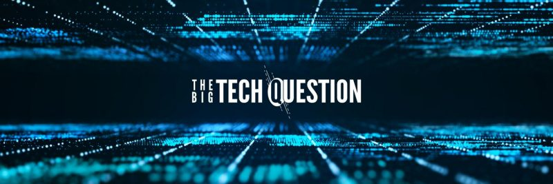 Logo for the big tech question website