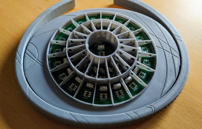 The back of the stargate controller with no lights on
