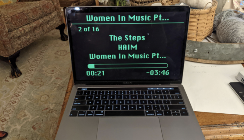 Guy managed to use a font for the music library that looks almost exactly the same as Apple's original