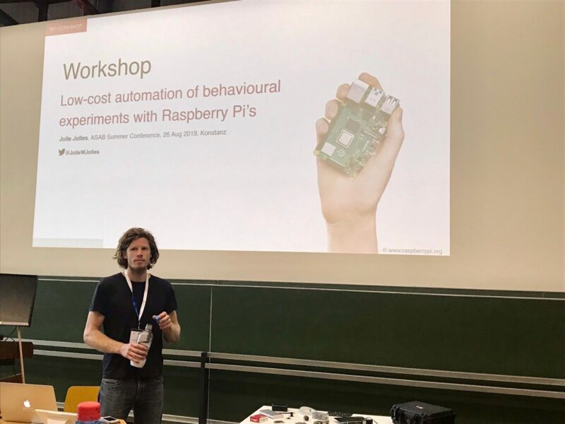 Doctor Jolle giving a presentation on Raspberry Pi