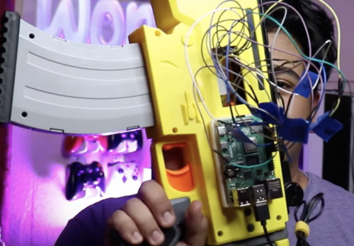 raspberry pi embedded in nerf gun